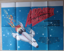 Airplane 2, Original UK Quad Poster, Lloyd Bridges, Robert Hayes, '82